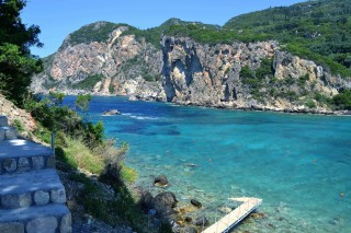 Corfu sightseeing Philoxenia hotel Corfu Island has beautiful beaches with clean waters