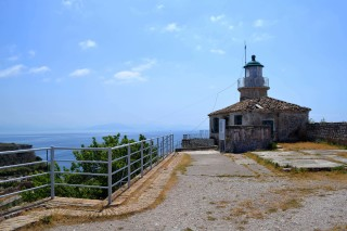 Corfu sightseeing Philoxenia hotel lighthouse at Cape Sidero has a unique sea view