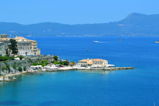 Corfu sightseeing Philoxenia hotel the Old Venetian Fortress offers a panoramic sea view