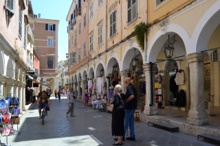 Corfu sightseeing Philoxenia hotel in the heart of Corfu Town there are various shops offering a big variety of local products