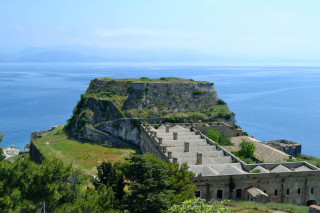 Corfu sightseeing Philoxenia hotel the Old Venetian Fortress close to Corfu Town