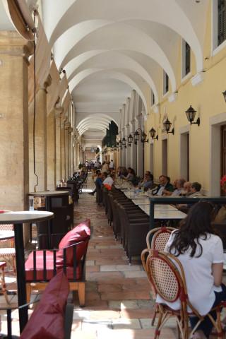 Corfu sightseeing Philoxenia hotel Corfu Town has various cafeterias