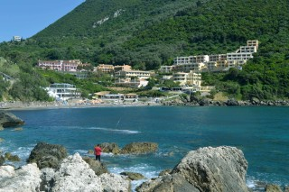 Ermones Corfu Philoxenia hotel fishing activities in the calm beach of Ermones
