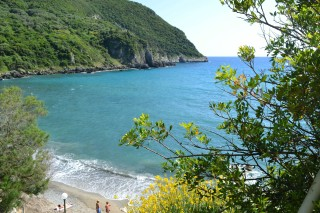 Ermones Corfu Philoxenia hotel Ermones is a tranquil crystal blue beach surrounded by green trees