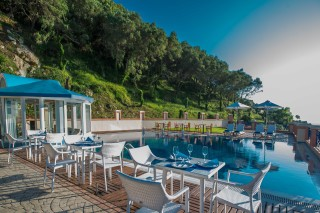 Gallery Corfu Hotel Philoxenia the Pool Bar is next to the swimmin pool offering a great view of the Ionian Sea and the mountain