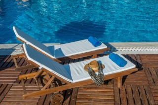 Gallery Corfu Hotel Philoxenia relax in the comfortable Pool Sunbeds of the Hotel