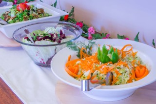 Modern facilities Philoxenia hotel Greek Food Buffer with salad and much more