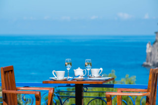 Modern facilities Philoxenia hotel enjoy a coffee or a glass of wine in the Sea View Balcony