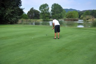 The best things to do in Corfu Philoxenia hotel man plays golf in the local club