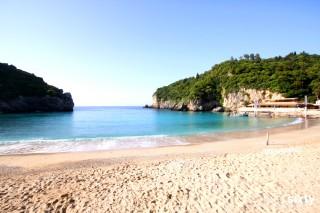 about corfu philoxenia hotel palaiokastritsa sandy beach