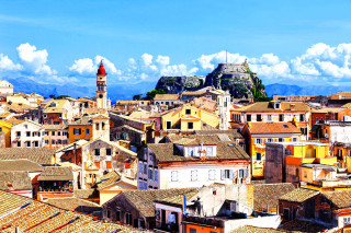 about corfu philoxenia hotel corfu town with lovely buildings