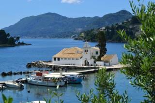 about corfu philoxenia hotel vlacherna monastery