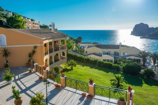amazing corfu hotel philoxenia with a panoramic sea view in ermones surrounded by green trees