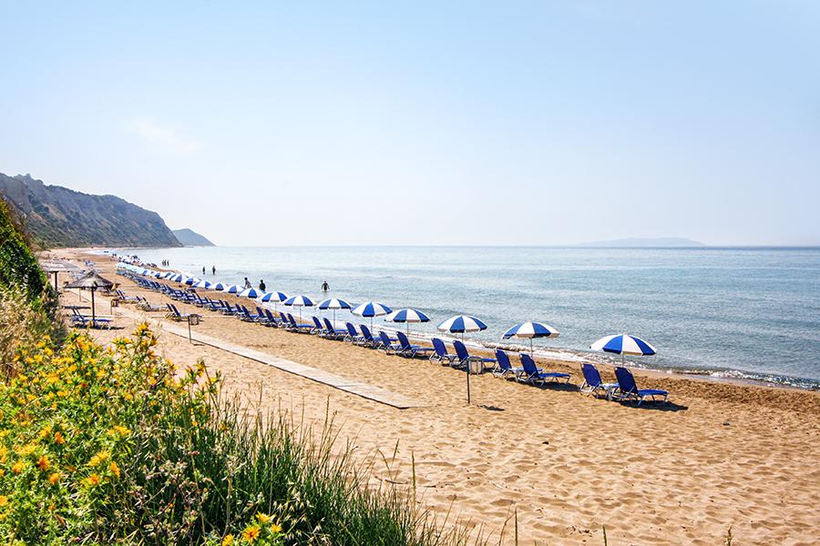 gardenos beach corfu
