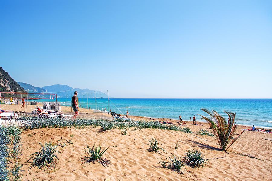 glyfada beach corfu